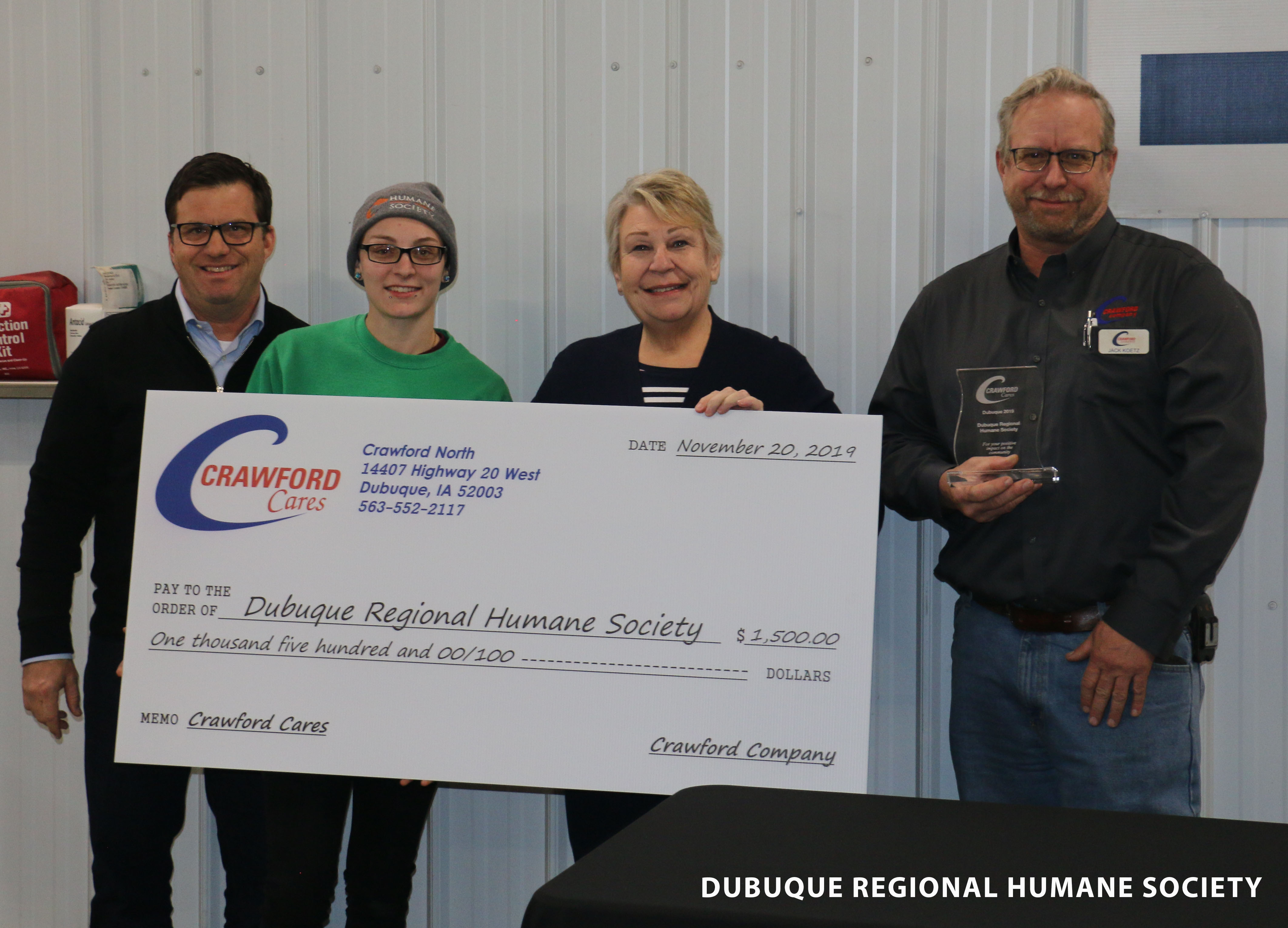 Overall winner dubuque regional humane society (2)